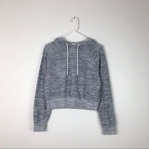 Cropped Grey Juniors Hoodie - Size XS